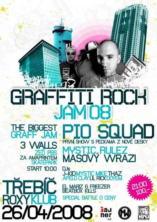 GRAFFITI ROCK JAM 2008 - Třebíč