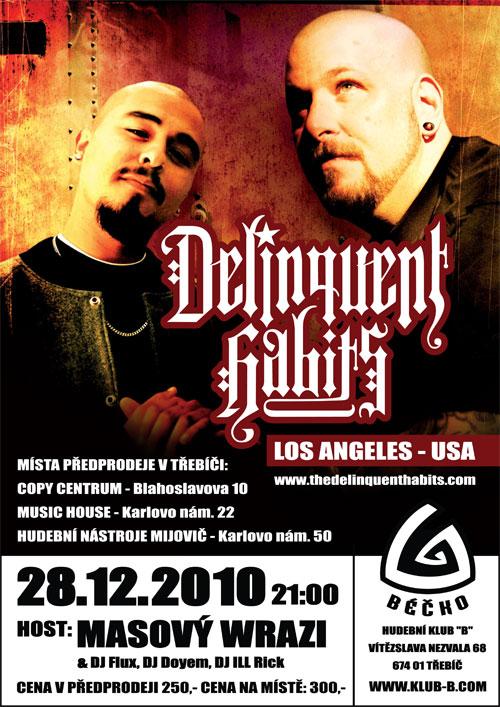 Delinquent Habits - B Klub, Třebíč