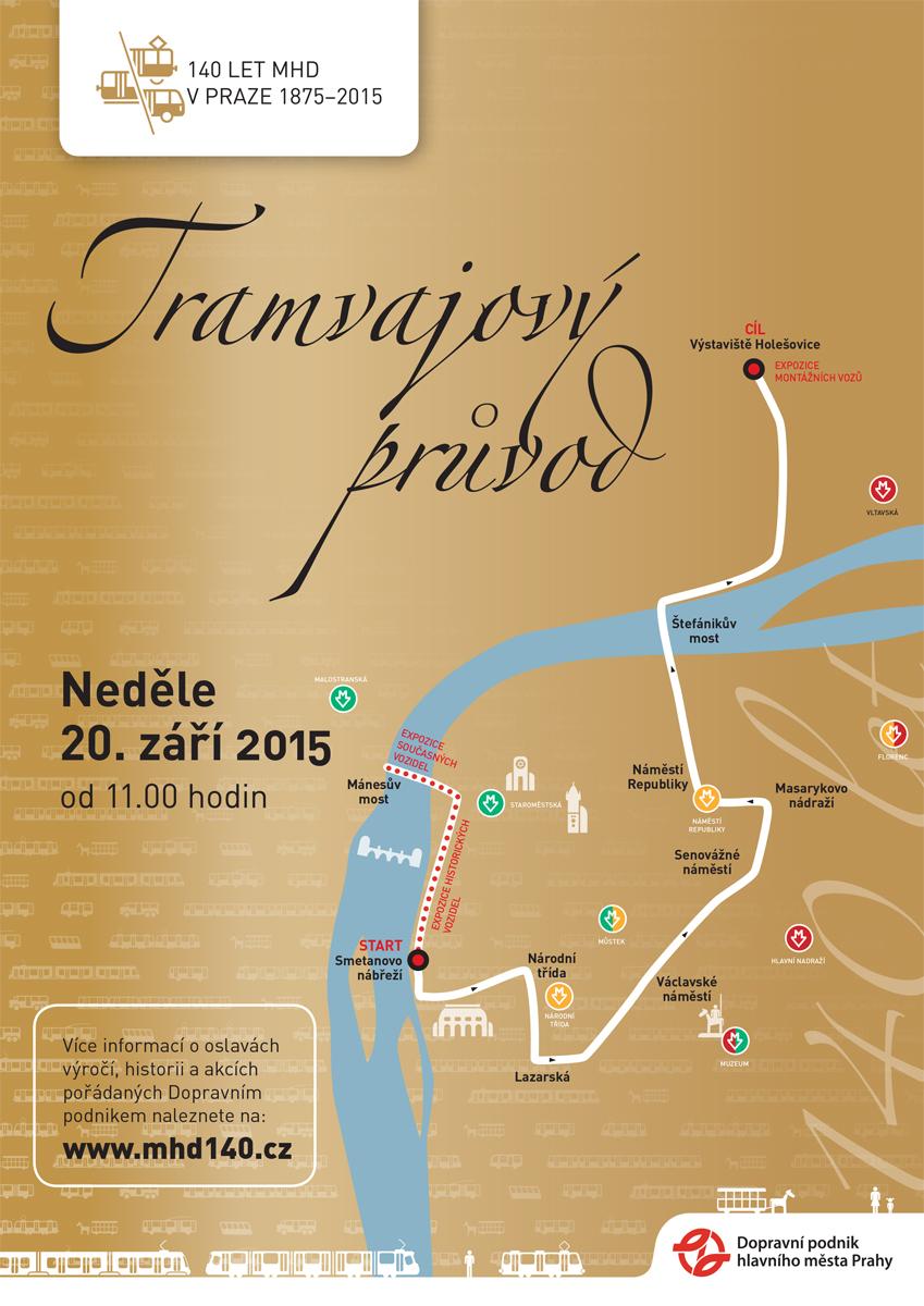 140 LET MHD - Tramvajový průvod Prahou