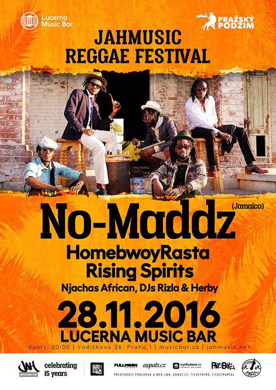JahMusic Reggae Festival - No-Maddz, HomebwoyRasta, RisingSpirits