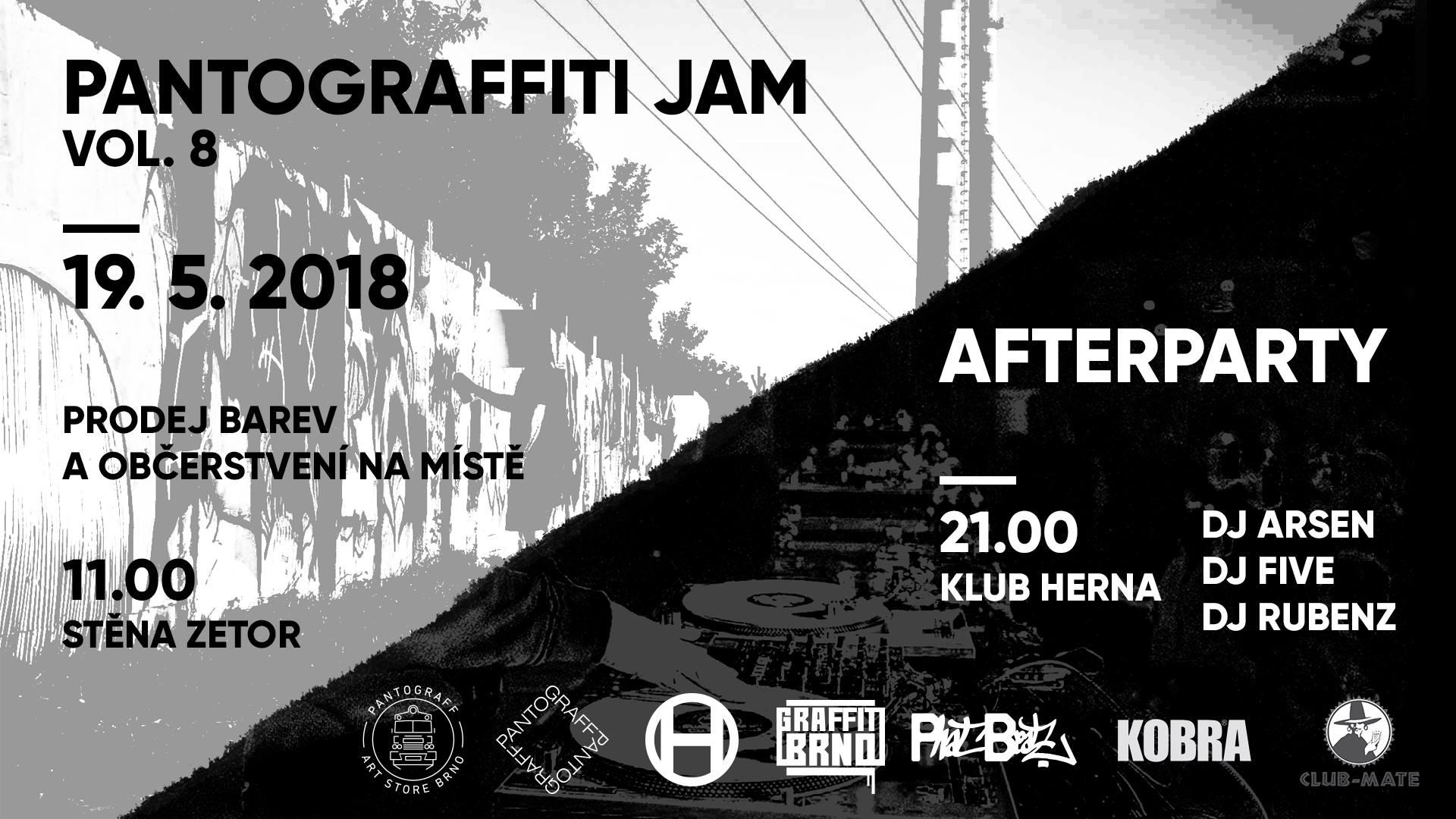 PANTOGRAFFITI JAM 8 - Jedovnická, Brno