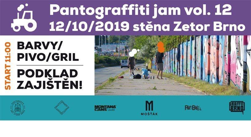 PANTOGRAFFITI JAM 12 - Jedovnická, Brno