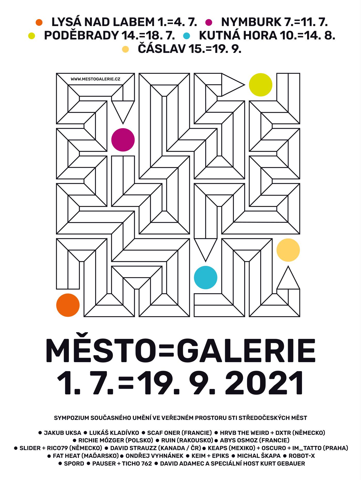 MĚSTO=GALERIE 2021