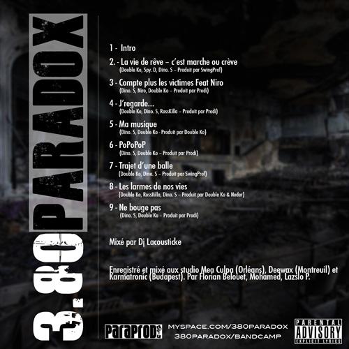3.80 Paradox - Sixième Acte - cover - back