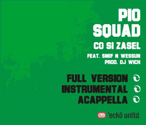 Pio Squad - Co si zasel - singl - booklet - back