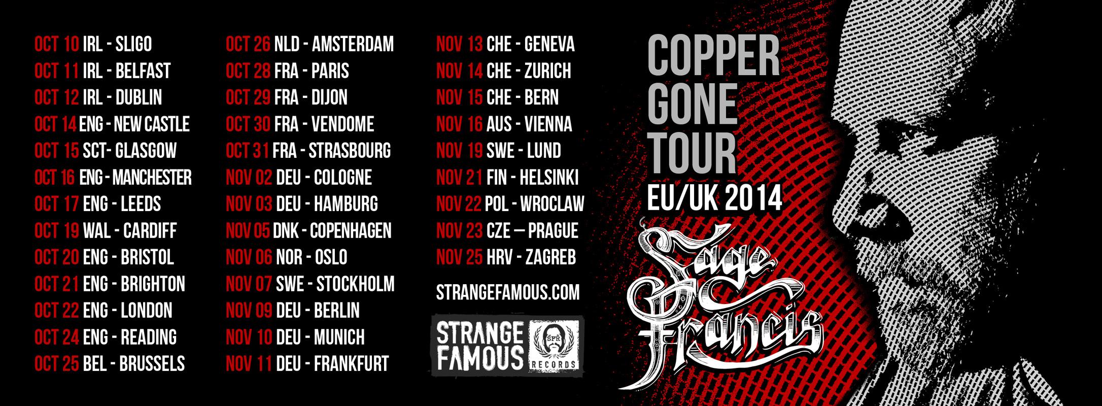 SAGE FRANCIS TOUR 2014